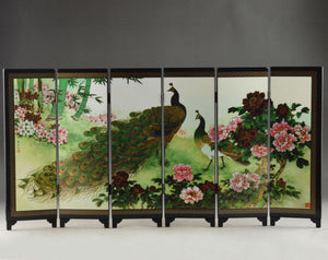 Details Old about Superb Beautiful Oriental Lacquer Handwork Painting