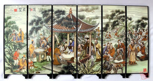 TNUKK Chinese Boutique collection Lacquer ware painting crane folding screen-Orchid Pavillion Series - Lucky Mouse Chinese Gifts