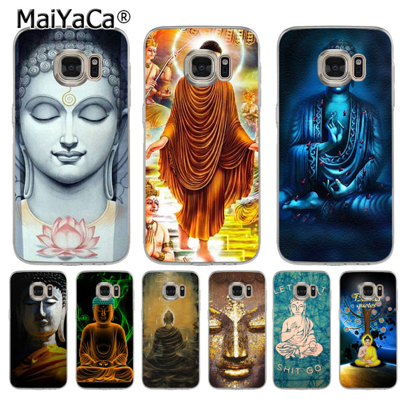 MaiYaCa Buddha budha Coque Shell Phone Case  for Samsung S5 S6 S7 Edge S8 Plus S6 Edge Plus S3 S4 - Lucky Mouse Chinese Gifts
