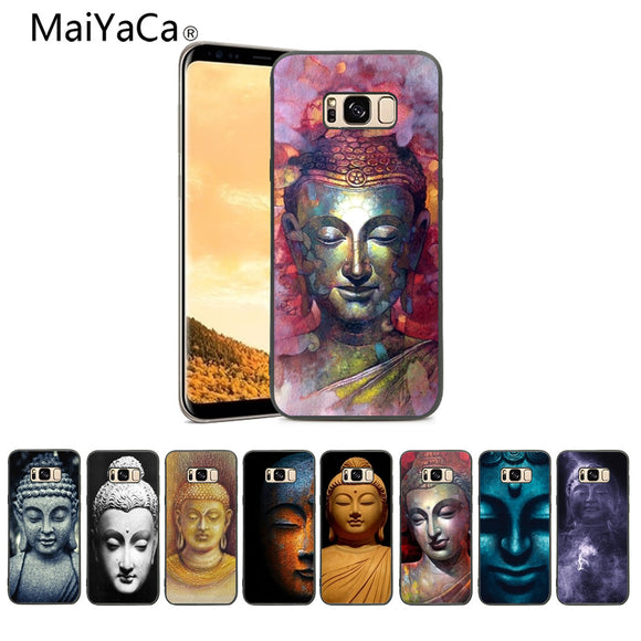 MaiYaCa India Buddha Black TPU Soft Rubber Phone Case For Samsung Galaxy s5 s6 s7 s8 s9 And S6Edge - Lucky Mouse Chinese Gifts