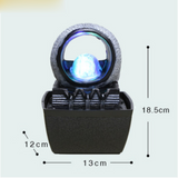 Modern Water Fountain LED Crystal Ball Waterfall Micro Landscape Desktop Feng Shui Lucky Living Room Office Creative Home Decor - Lucky Mouse Chinese Gifts