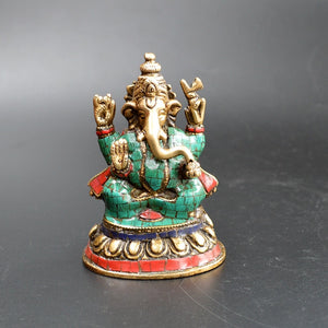 Tibetan Buddhist Tantric elephant elephant king Mammon God of victory Copper Buddha statue