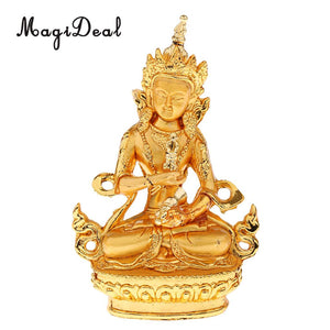 MagiDeal Small Buddha Statue Gilt Medicine Buddhist Feng Shui Figurine Religion Sculpture Blessing Good Luck Home Ornaments