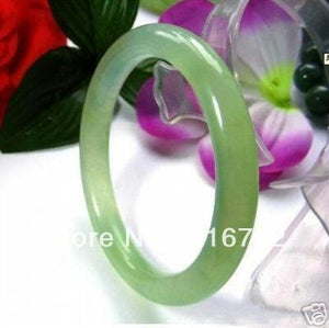real Chinese green stone bracelet bangle