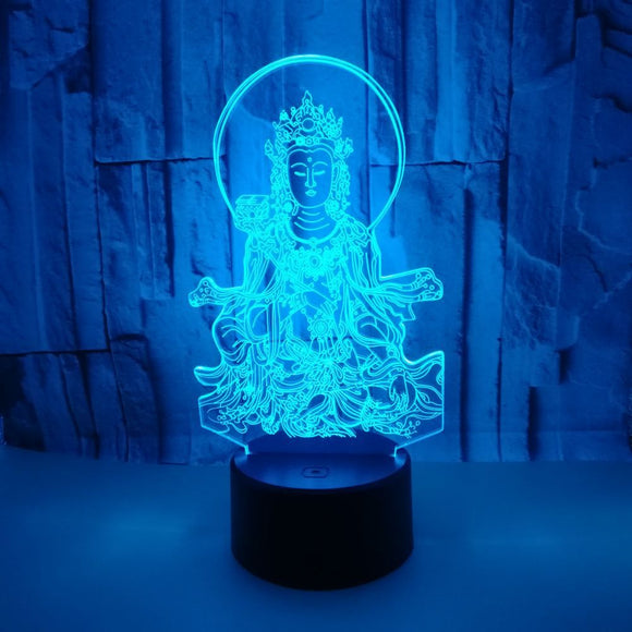 New Buddha 3d Small Night Light Colorful Touch Visual Led Night Light Novelty Luminaria Usb Led 3d Lamp - Lucky Mouse Chinese Gifts