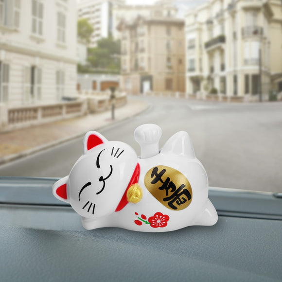 Lazy Cat Solar Energy Shake Hand Car Auto Dashboard Decoration Lucky Cat Car Ornament Cute Interior Accessories Car-styling