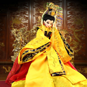 High-end Traditional Chinese Dolls Oriental Girl Doll Toys With 14 Joints Movable Empress Wu Zetian Series For Collection - Lucky Mouse Chinese Gifts