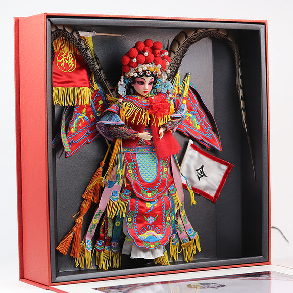 High-end Collectible Chinese Dolls Traditional Oriental Peking Opera Doll With 14 Joints Movable Mu GuiYing Series Toys Gifts - Lucky Mouse Chinese Gifts