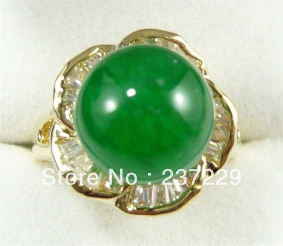 Wonderful Green stone Ring AAA - Lucky Mouse Chinese Gifts