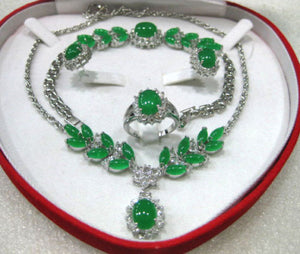 Hot sale new Style >>>>>fine green stone/stone necklace pendant/bracelet/earring/ring set - Lucky Mouse Chinese Gifts