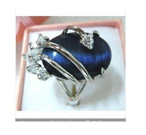 Hot sale new Style >>>>Exquisite blue crystalopal women's ring size:7,8,9 - Lucky Mouse Chinese Gifts