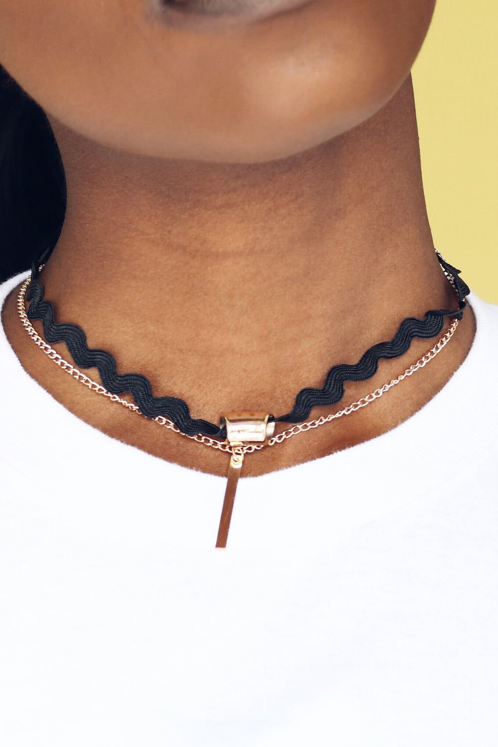 Black and Gold Chain Choker
