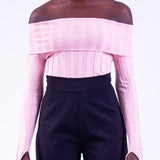 Celmia Off Shoulder Top (Pink)