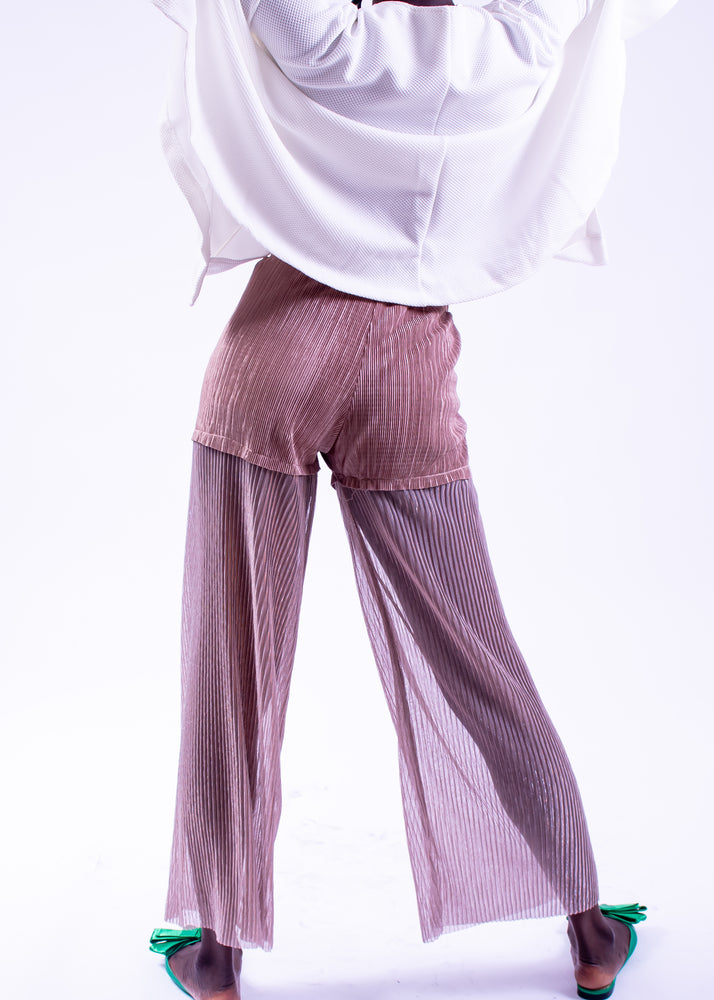 Double layered Nude Pants