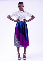 Accordion Multi colored  Skirt