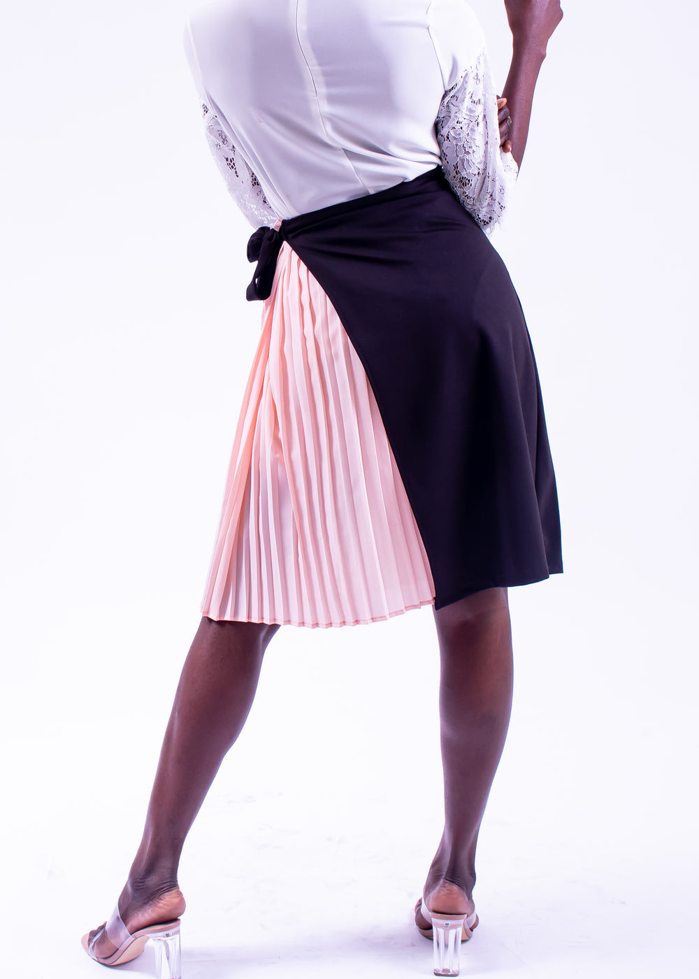 Tulip Two-Toned Wrap Skirt