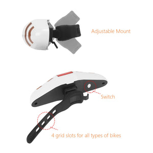 LIDIWEE Bike Tail Light, LED Bike Turn Signal Lights Wireless Remote Control Waterproof, Bicycle Rear Safety Warning Light Lamp
