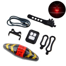 MASO Bike Rear Light LED Bike Tail Turn Signal Lights with Wireless Remote Control Rechargeable Multifunctional Modes Waterproof Cycling Warning Light