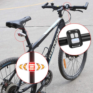 Bicycle Bike Rear LED Tail Light Wireless AAA Remote Control Turn Signals Light