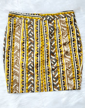 Yellow and Brown Mini Skirt
