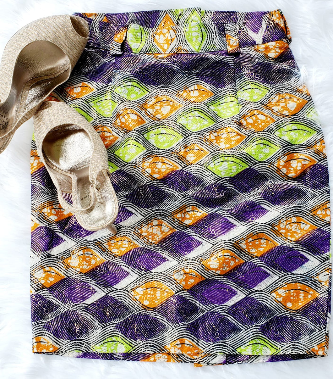 Purple, Green and Orange Skirt
