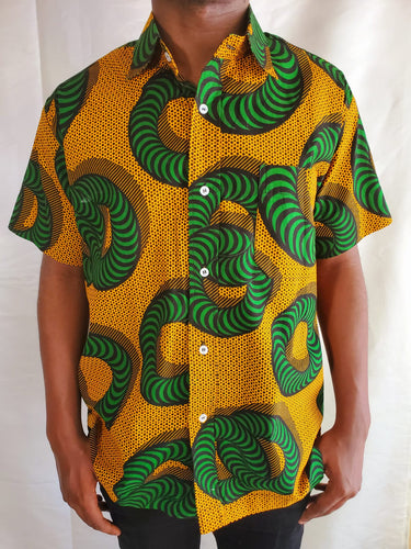 Short Sleeve Ankara Shirt