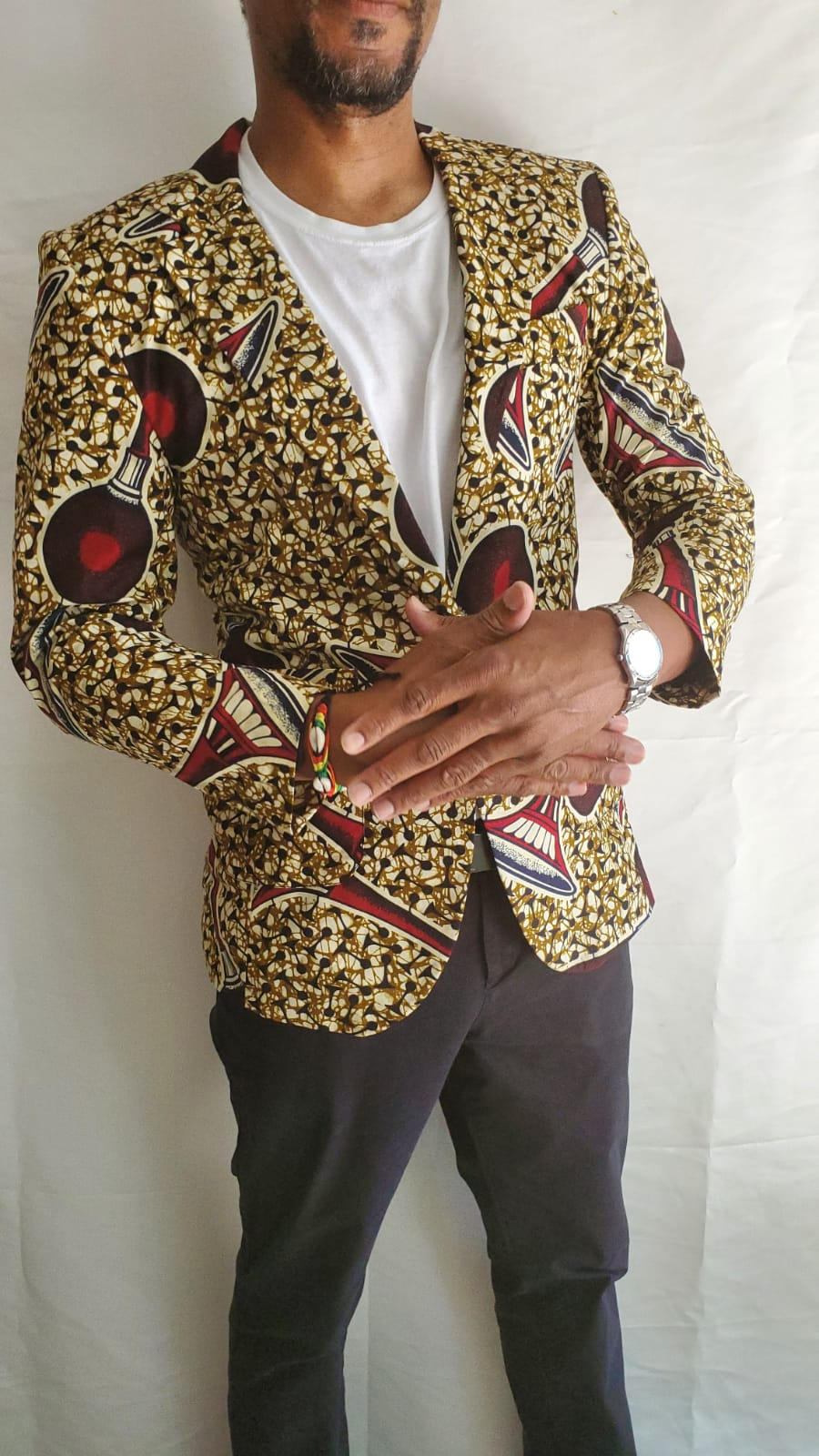 Yellow Ankara Blazer