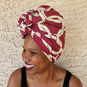 Red and White Headwrap