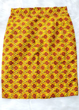 Yellow and Red Mini Skirt