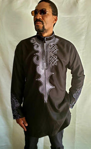 Embroidered Black Long Sleeve