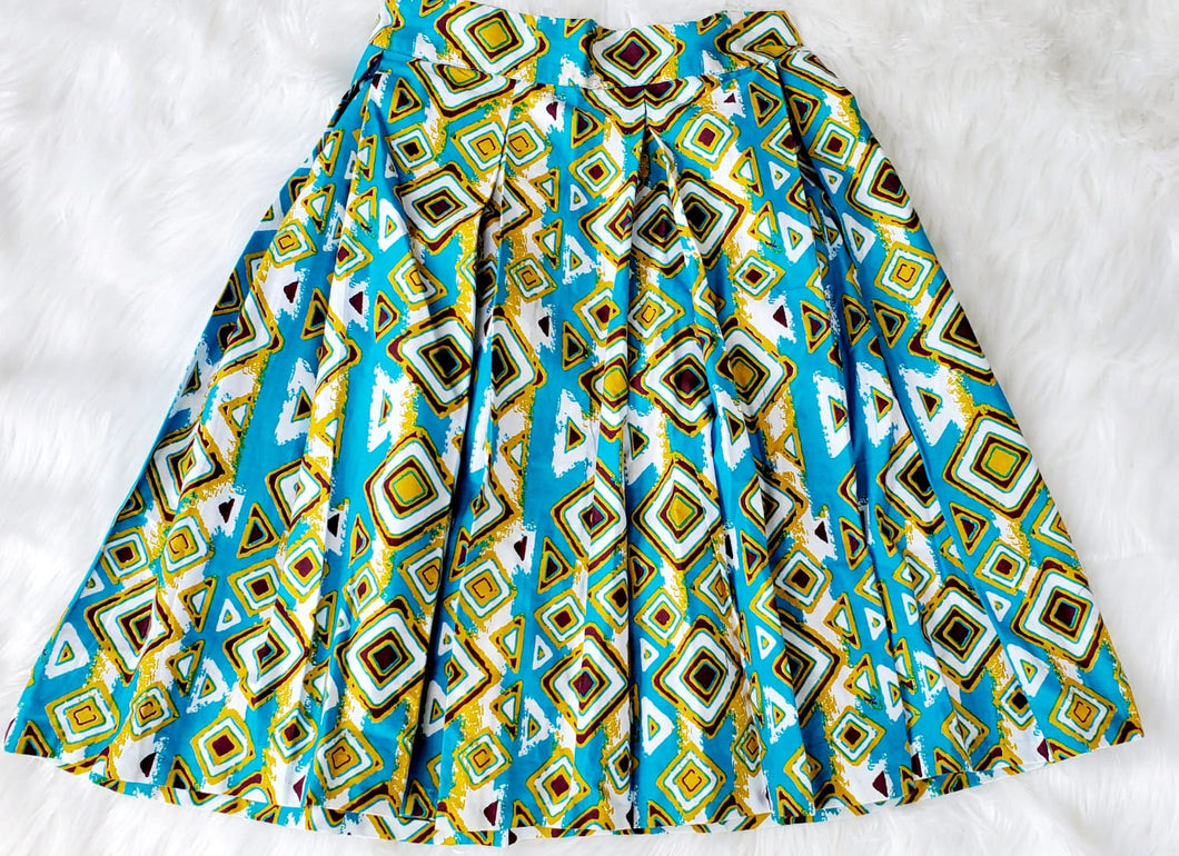 Yellow and Blue Skirt