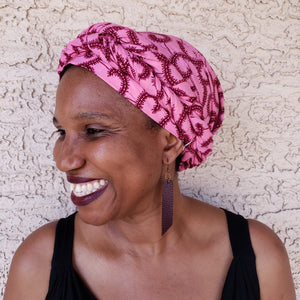 Pink and Purple Headwrap/ Scarf