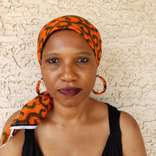 Orange and Green Headwrap/ Scarf