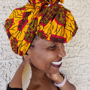 Red and Yellow Headwrap/ Scarf