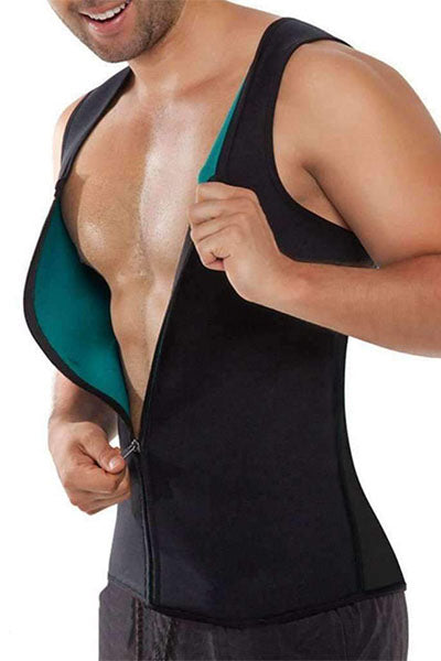 FITOLIX MEN'S ZIPPER NEOPRENE SAUNA VEST
