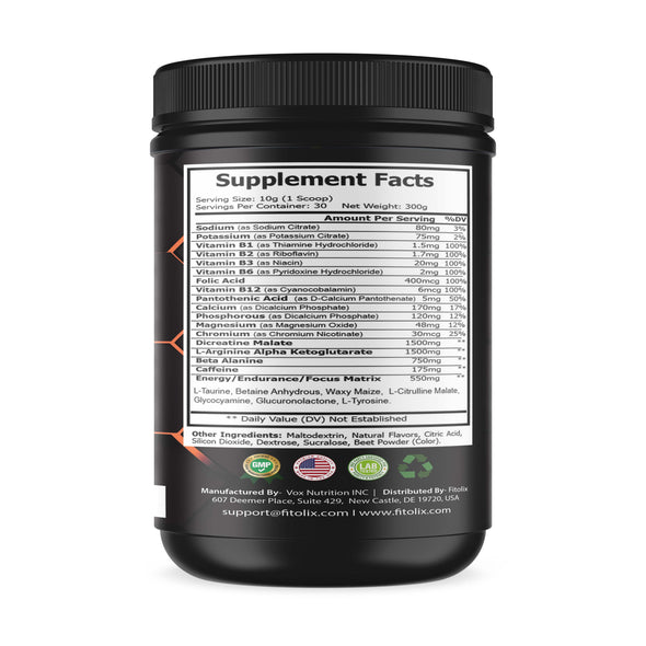 Fitolix Next Level pre workout (Watermelon)