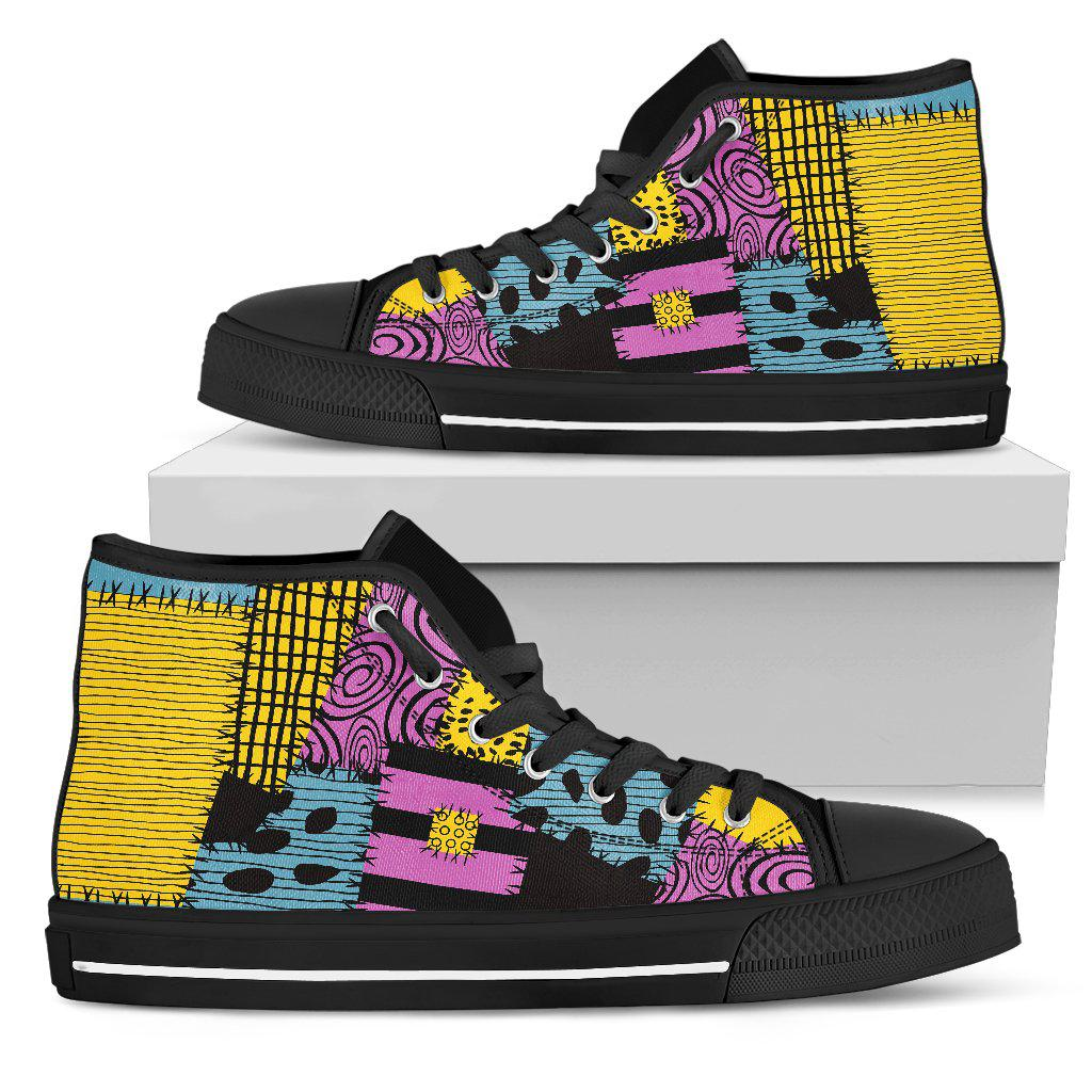 Nightmare Before Christmas Shoes, Sally Women's High Top Canvas & Low Top Canvas