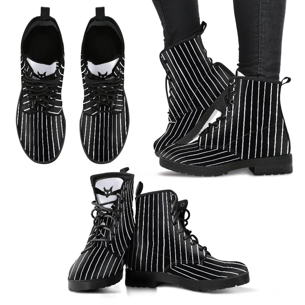 Nightmare Before Christmas, Women's Jack Skellington Faux Leather Boots