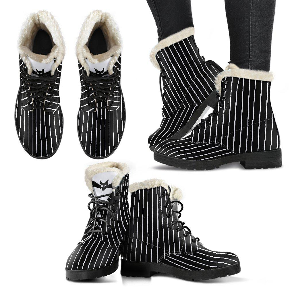 Nightmare Before Christmas, Jack Faux Fur Leather Boots