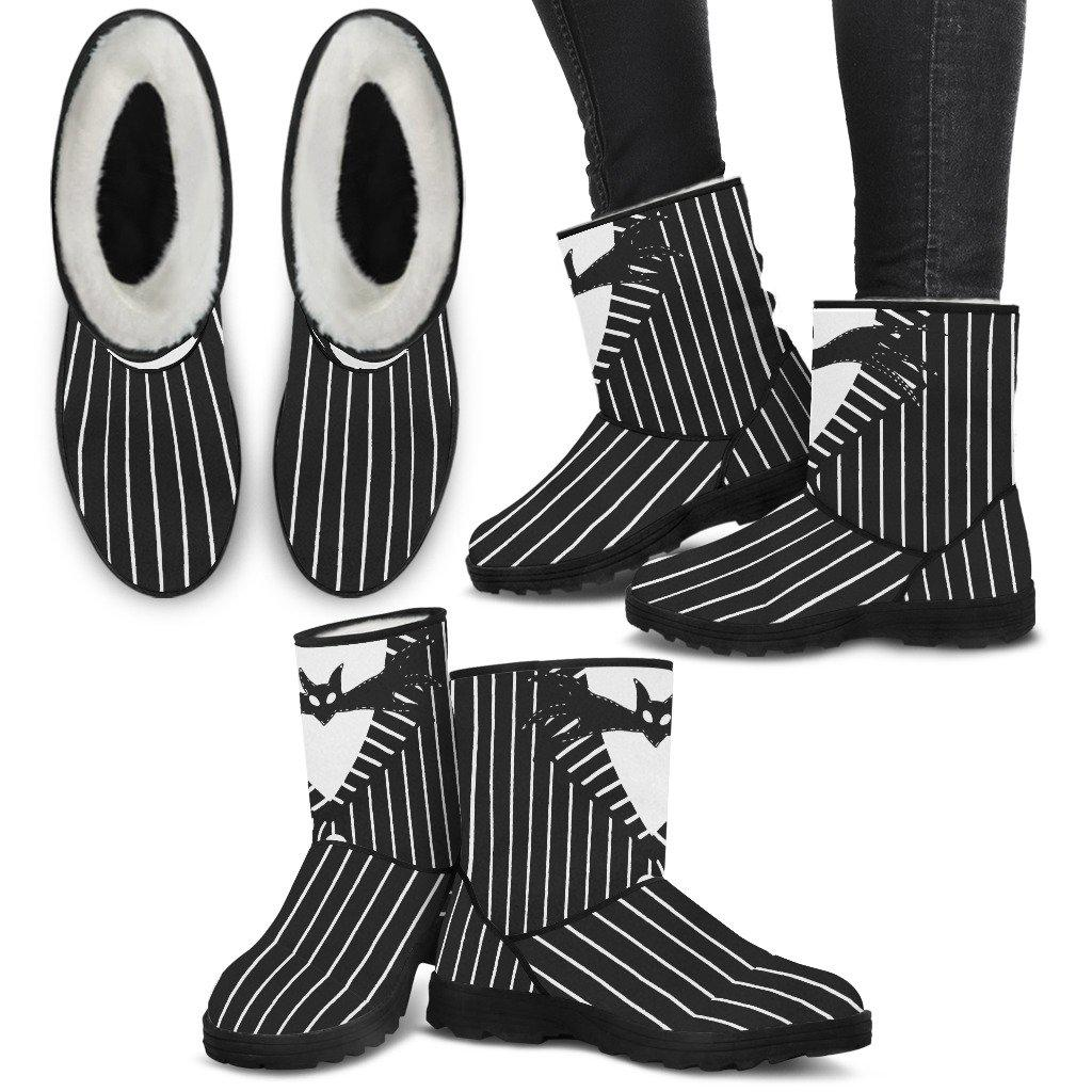 Nightmare Before Christmas, Jack Skellington Faux Fur Boots