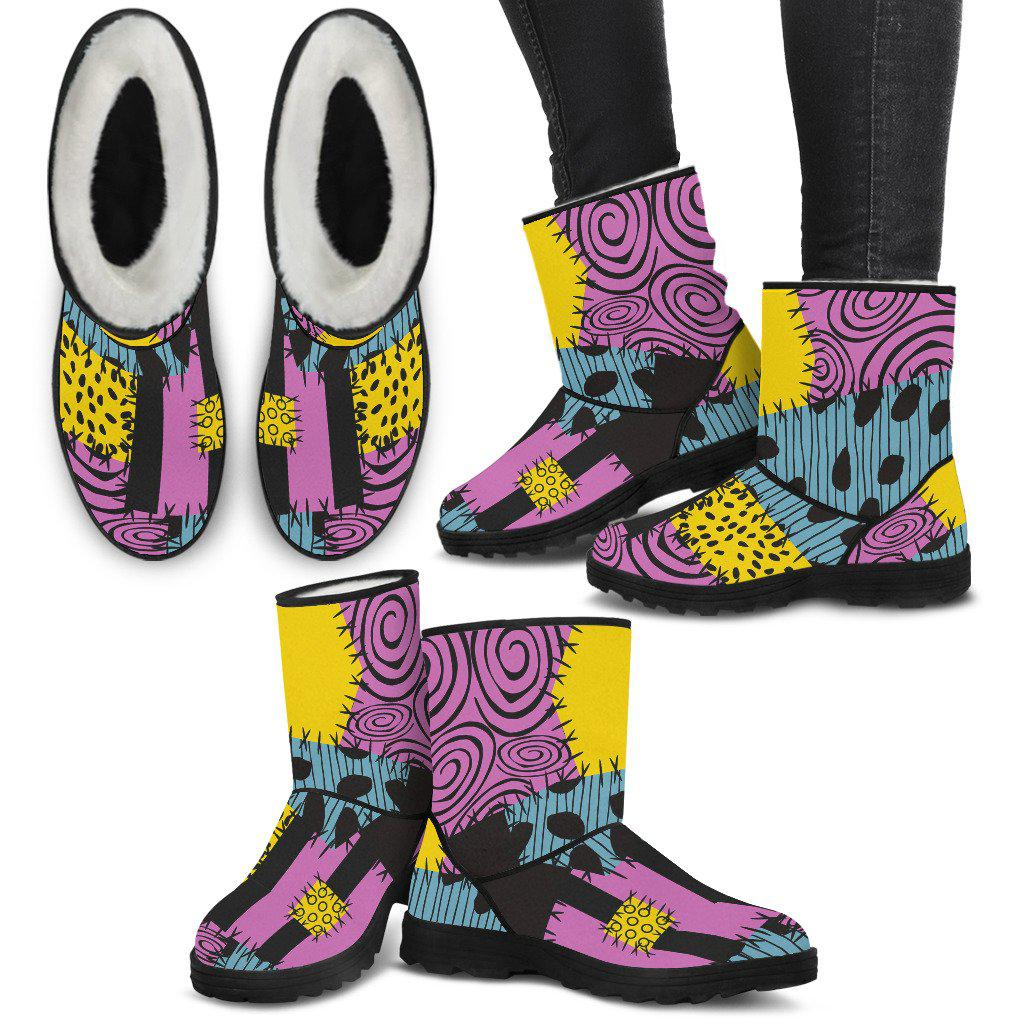Nightmare Before Christmas, Sally Faux Fur Boots