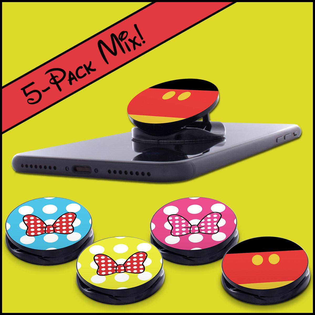 Phone Grip MIXED 5-Pack, Mickey & Minnie Bows, PGMIX03