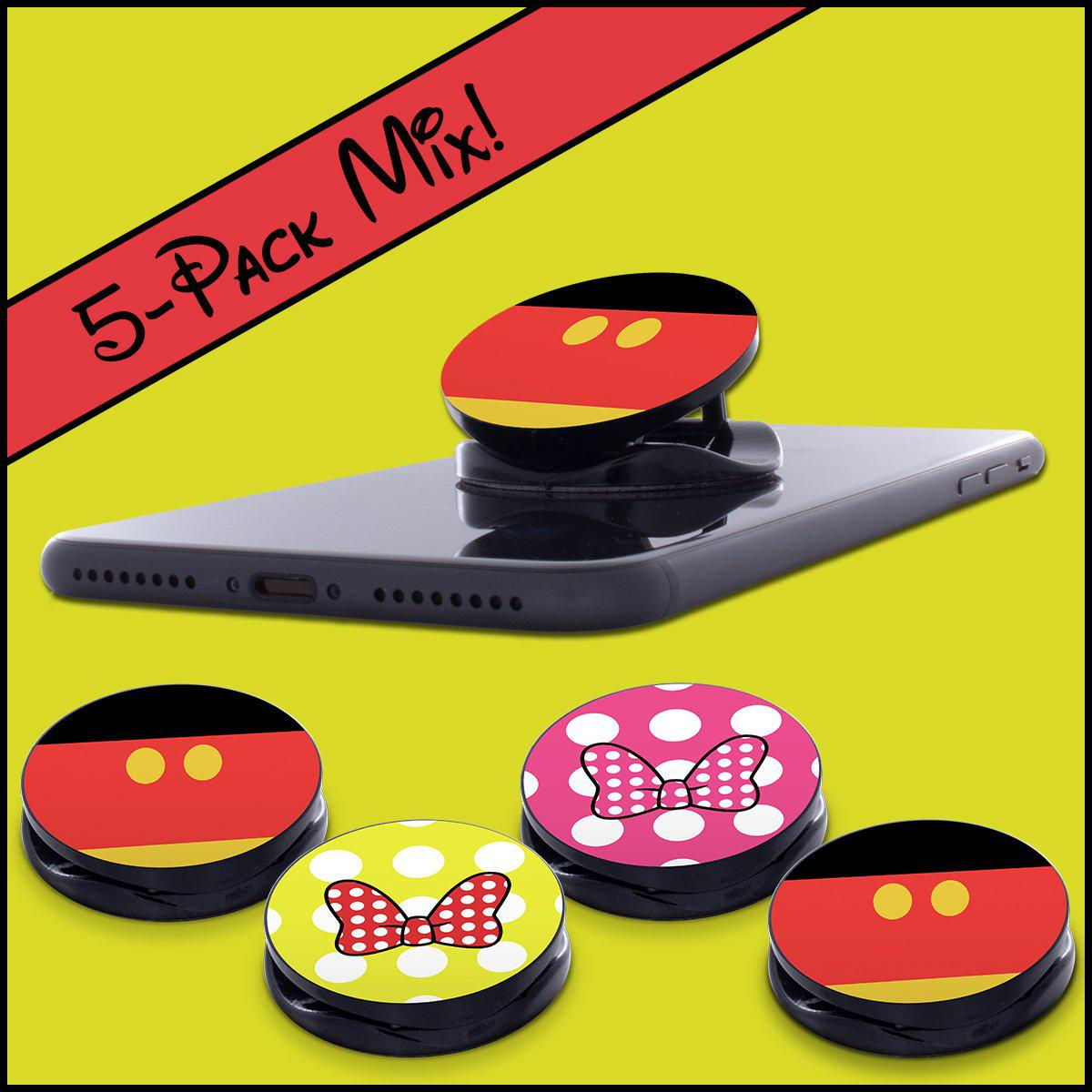 Phone Grip MIXED 5-Pack, Mickey & Minnie Bows, PGMIX04