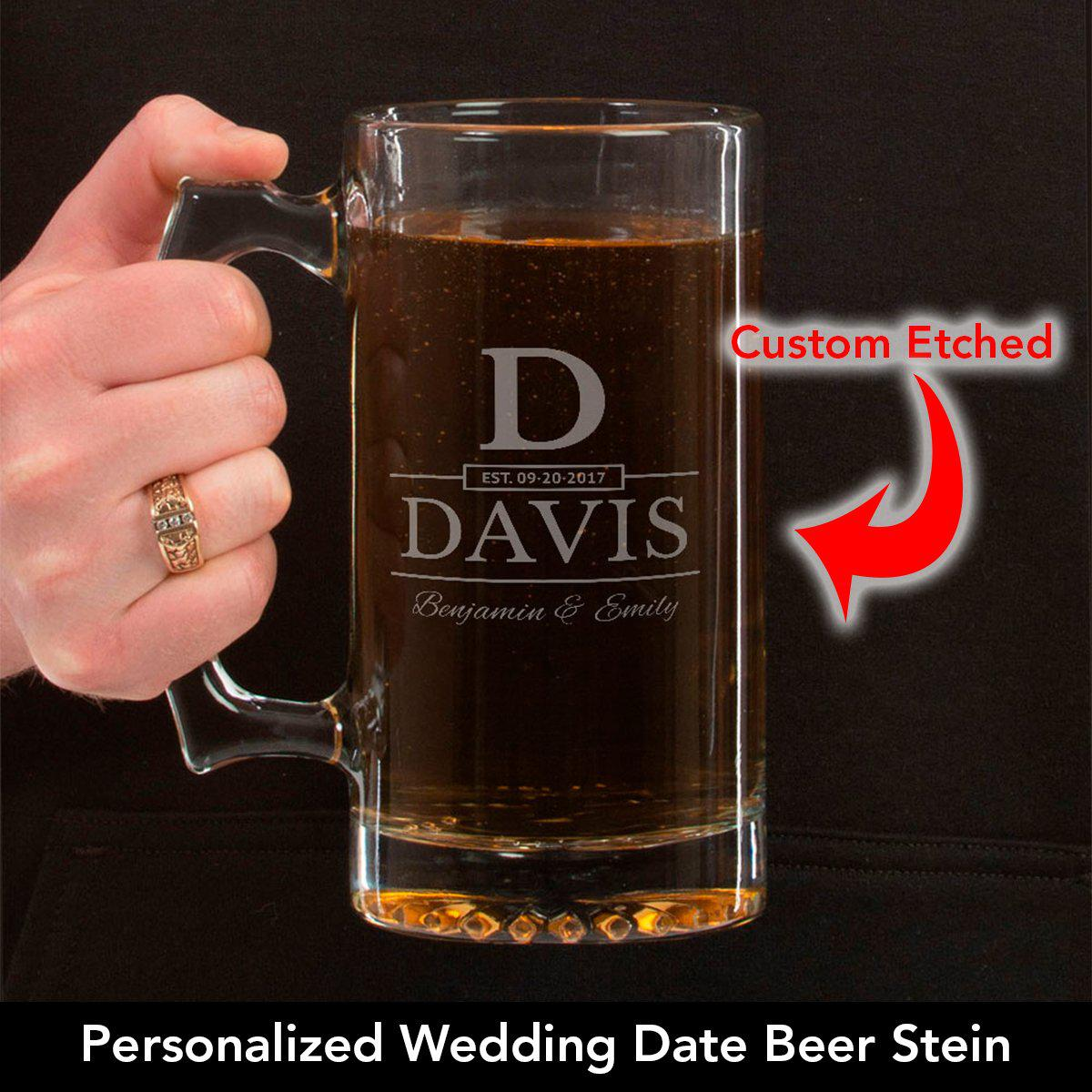 Wedding Date - Personalized Beer Mug