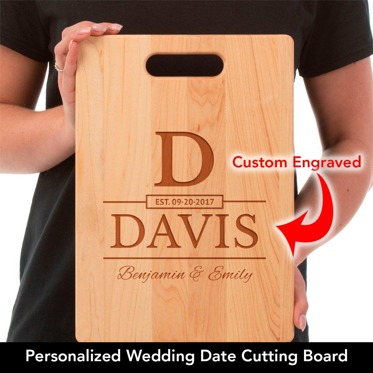 Wedding Date - Personalized Engraved Maple Cutting Board