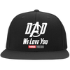 Dad We Love You Three Thousand - Embroidered Flat Bill Twill Flexfit Cap