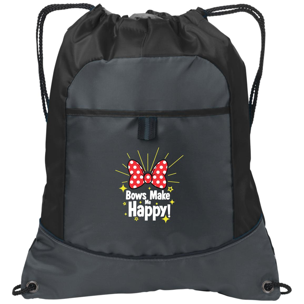Bows Make Me Happy - Port Authority Pocket Cinch Pack