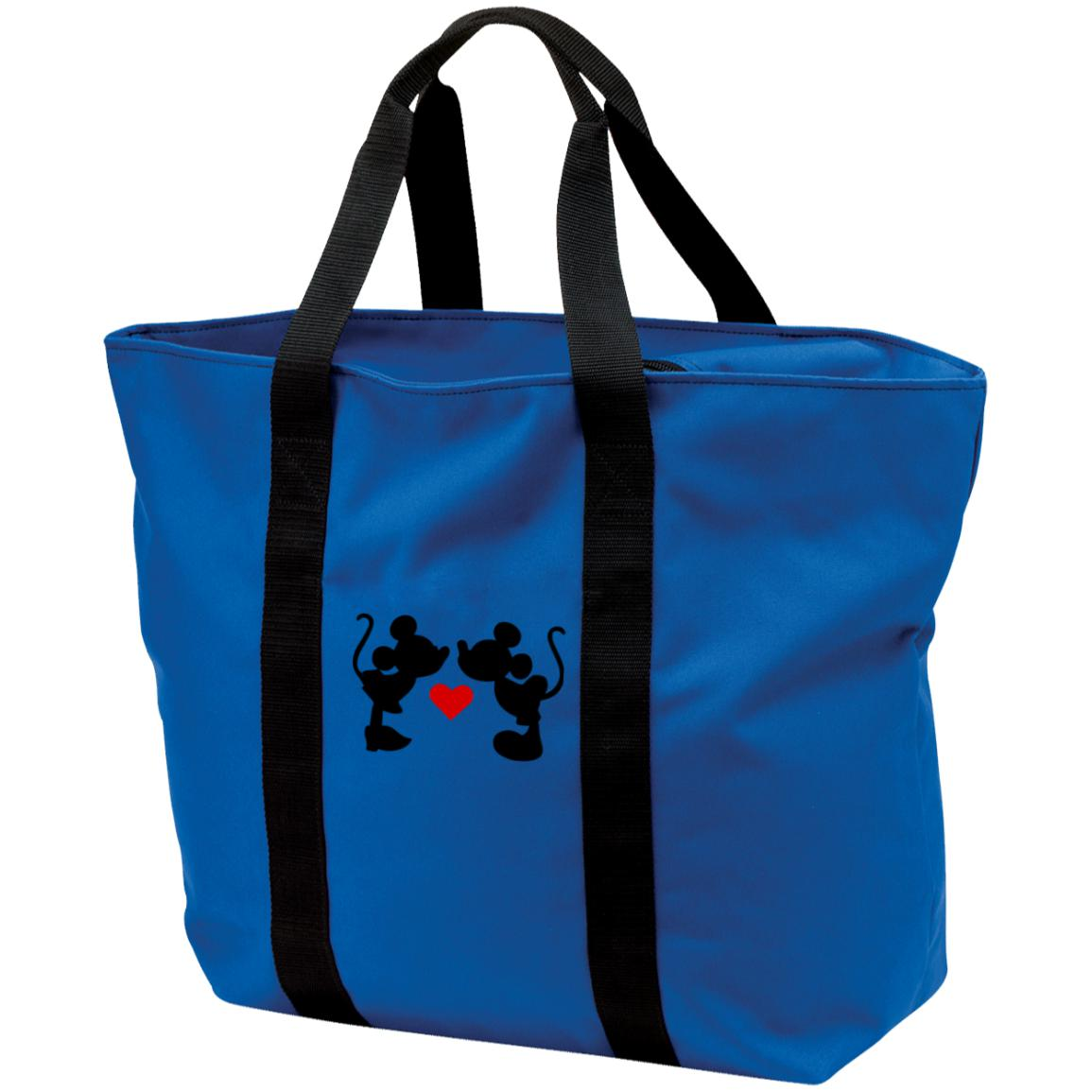Mickey & Minnie Kissing Tote Bag