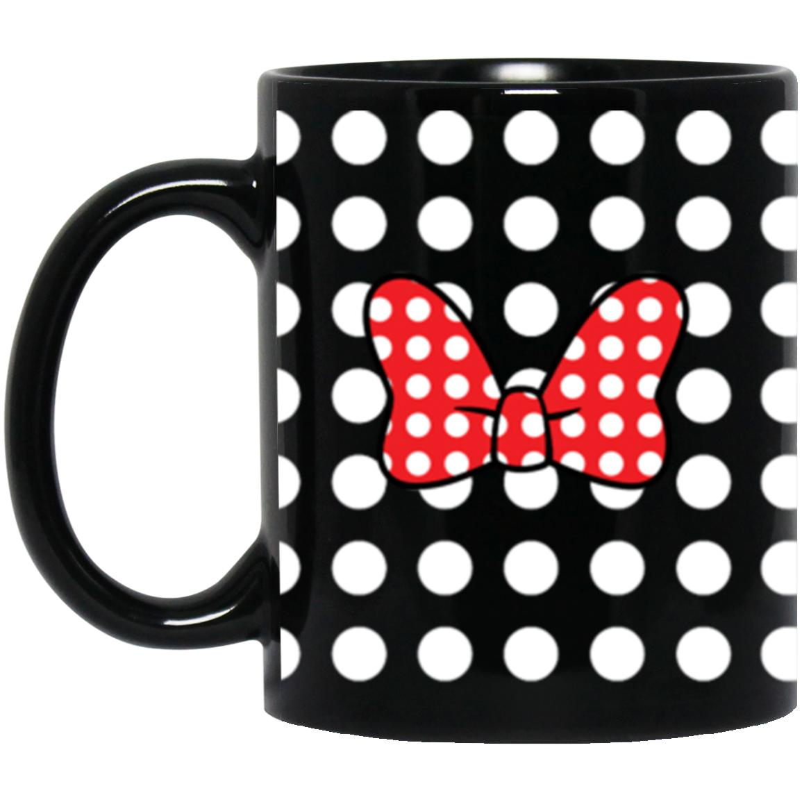 Minnie Bow on Black - 11 oz. Black Mug