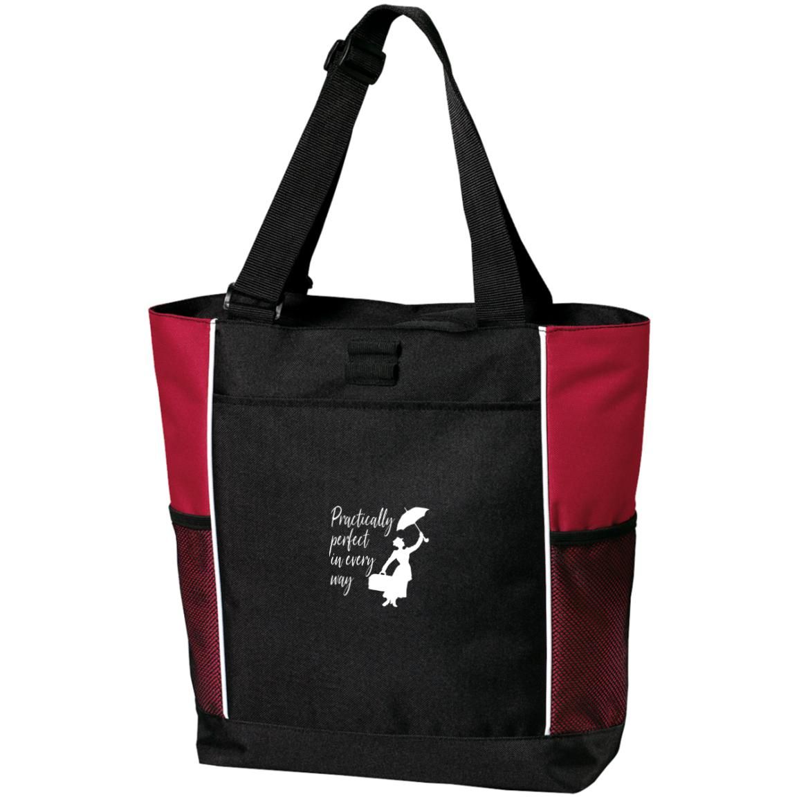 Mary Poppins Practically Perfect - Port Authority Colorblock Zipper Tote Bag